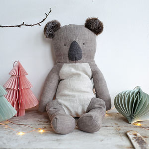 Linen Koala Soft Toy - toys & games