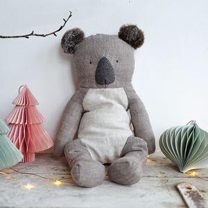 Linen Koala Soft Toy - soft toys & dolls