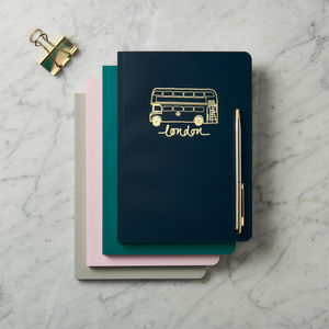 Personalised London Landmarks Notebook