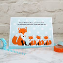 Personalise the card from three babies or small children