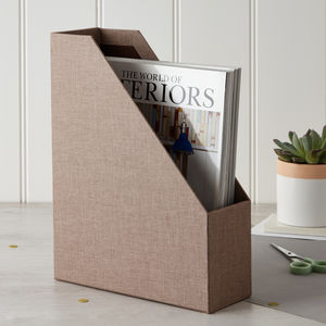 Magazine File In Linen - magazine racks