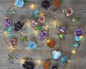 Hand Painted Rose Metal Fairy Lights