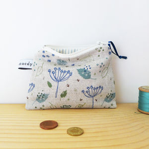 Blue Parsley Zip Purse - purses & wallets