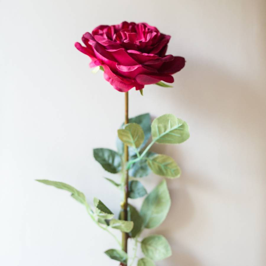 Faux English Red Rose By Deluxe Blooms Notonthehighstreet Com