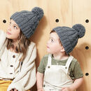 Parent And Child Matching Cable Knit Beanie Hats