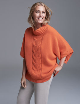 Audrey Cashmere Cable Jumper One Size