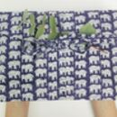 Cotton Gift Wrap, Reusable, Purple Elephant Fabric