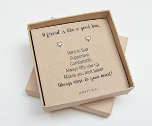 A Friend Is Like A Good Bra Silver Earring Gift - what's new