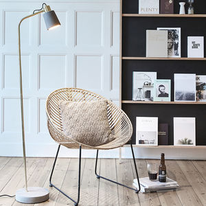 Minimalist Concrete And Brass Floor Lamp - new season lighting