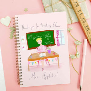 Personalised Thank You Notebook For Teachers 'Sweet'