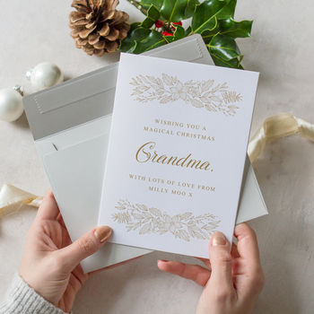 Personalised Grandparent Christmas Card