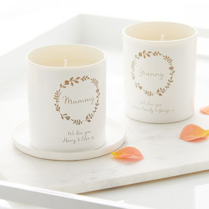 Personalised Glow Through 'We Love You' Candle - home accessories