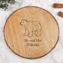Personalised Woodland Cheese Board Gift