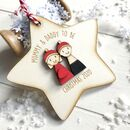 Personalised Mummy And Daddy To Be Christmas Decoration