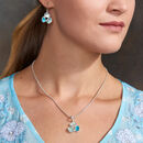 Aquamarine And Apatite Pendant And Earrings Set