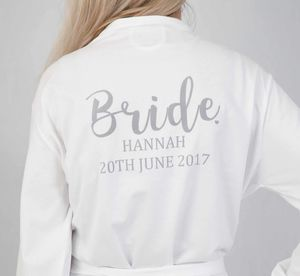 Bride Personalised Wedding Robe - bridesmaid gifts