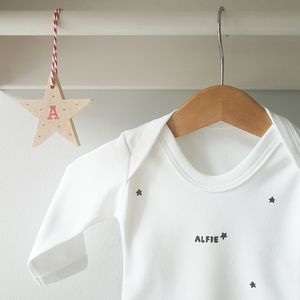 Personalised Star Decoration And Babygrow - new baby gifts