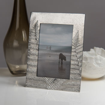 Fern Cast Pewter Photo Frame