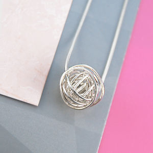 Ball Sterling Silver Necklace With Snake Chain