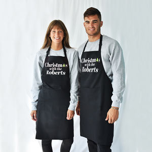 'Christmas With The…' Personalised Apron - personalised