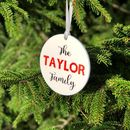 Family Name Christmas Tree Decoration Bauble