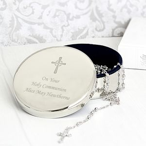 Personalised Trinket Box And Rosary Beads - jewellery boxes & storage