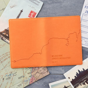 Personalised Coastline Passport Cover - accessories