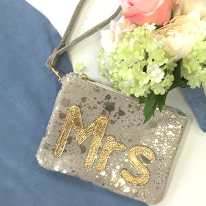 Mrs Clutch Bag - wedding fashion