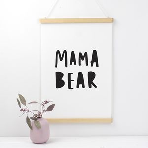 Mama Bear Mothers Day Print