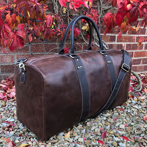 Men's Large Brown Vintage Leather Holdall