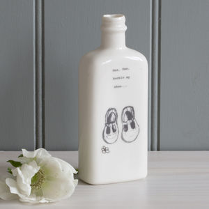 'One, Two, Buckle My Shoe…' Porcelain Medicine Bottle - vases