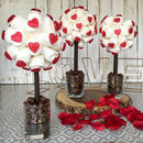Personalised Valentines Haribo Heart Marshmallow Tree