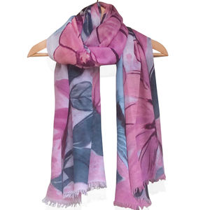 Cashmere Mix 'Flowers' Scarf - women's accessories sale