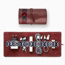 Leather Tech Roll Organiser With Optnl Access., Red