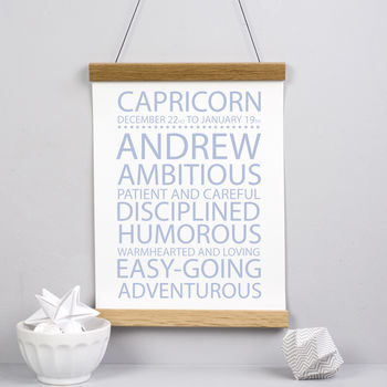 Star Sign Personalised Print