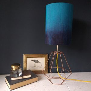 Teal Silk Ombre Lamp - dining room