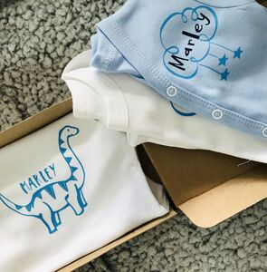 Premature Baby Personalised Baby Vest And Cardigan