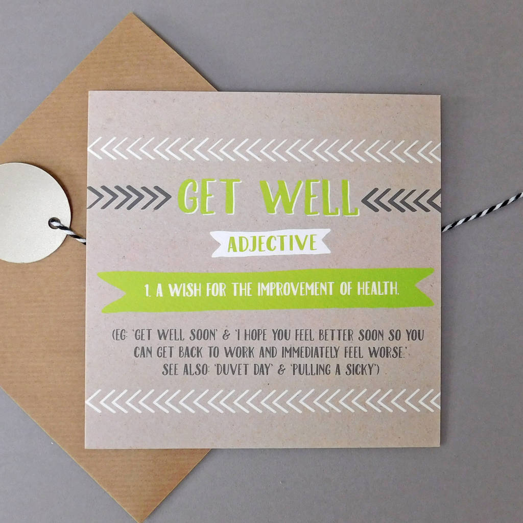 Funny Get Well Card By Allihopa Notonthehighstreetcom