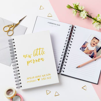 Personalised 'Little Person' Baby Journal