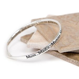 Mother And Daughter Message Bangle