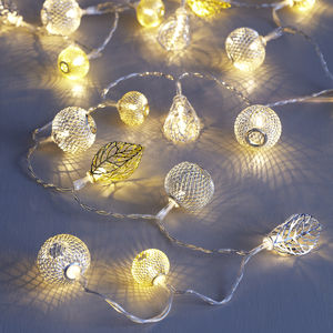 Gold And Silver Moroccan Fairy Lights - christmas lighting
