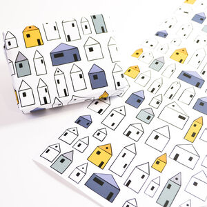 Little Houses Wrapping Paper