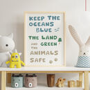 Childrens Nature Typography Print