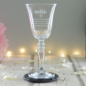 Bridesmaid Thank You Wedding Personalised Wine Glass