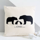 Bear Family, Personalised Silhouette Cushion Cover