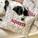 Embroidered Personalisation Liberty Cushion