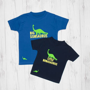 Little And Big Sibling Dinosaur T Shirts - clothing