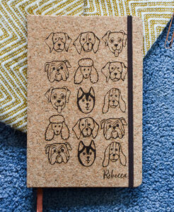 Personalised Cork Dog Notebook