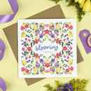 'Blooming Lovely' Floral Card