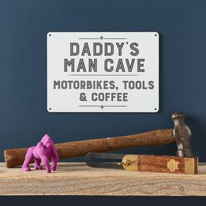 Personalised Daddy's Man Cave Sign - decorative accessories